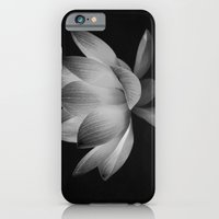 Lotus Blossom Flower 15 (Black and White) iPhone 6 Slim Case