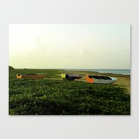 Canvas Print featuring Fishing Boats by SmallIslandInTheSun