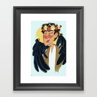 Cas With Bee Crown Framed Art Print