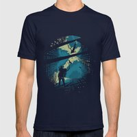 Travelers Mens Fitted Tee Navy SMALL