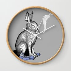 Carrot smoke trick Wall Clock