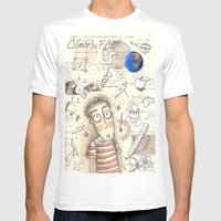 SCIENCE WORLD Mens Fitted Tee White SMALL