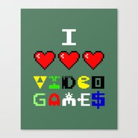 I 3 Up Video Games Canvas Print