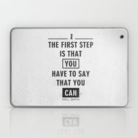 Will Smith Quote - Motiv… Laptop & iPad Skin