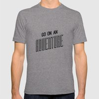 Adventure Mens Fitted Tee Tri-Grey SMALL