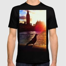 Sunset in London Mens Fitted Tee Black SMALL
