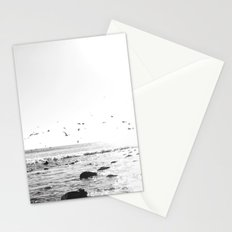 black and white big sur Stationery Cards