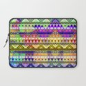 Blue Yellow Bright Andes Abstract Aztec Pattern Laptop Sleeve