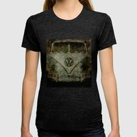 VW Zombiemobile - A Kill… Womens Fitted Tee Tri-Black SMALL