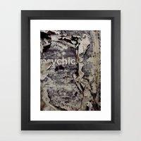Peeling: Psychic Framed Art Print