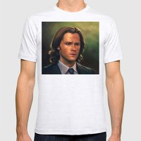 Sam Winchester from Supernatural Mens Fitted Tee Ash Grey SMALL