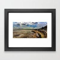 Filey Beach Framed Art Print