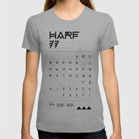 Harf 77 Poster (White) Womens Fitted Tee Athletic Grey SMALL