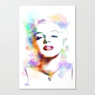 Canvas Print featuring Marilyn Monroe by Michael Akers