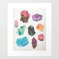 Raw Gems Art Print