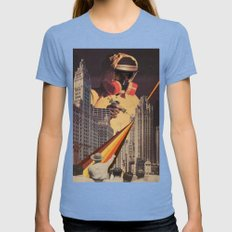 Vaccination Of Metropoli… Womens Fitted Tee Tri-Blue SMALL