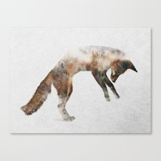 Jumping Fox Canvas Print