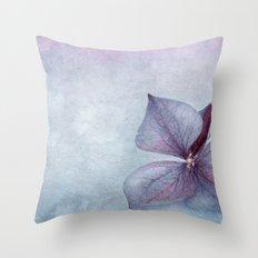 BLUE HYDRANGEA PETAL Throw Pillow