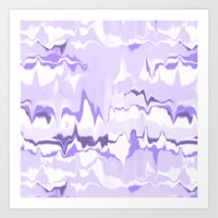 Marbled In Orchid Art Print
