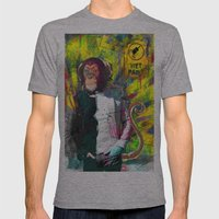 Wet paint. Mens Fitted Tee Athletic Grey SMALL