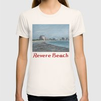 Revere Beach 1 Womens Fitted Tee Natural SMALL