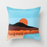 Landscape Of Naples With… Throw Pillow