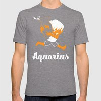 Aquarius: the Water Carrier Mens Fitted Tee Tri-Grey SMALL