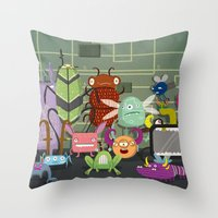 Computer Bugs Throw Pillow