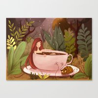 A cup of hot chocolate Canvas Print