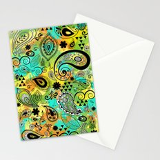 Crazy Paisley Stationery Cards