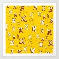Letter Patterns, Part X Art Print