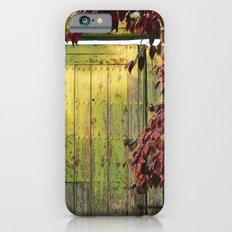 La portada verde y el otoño iPhone 6 Slim Case