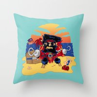 Lucky the Pirate Throw Pillow