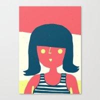 Self-portrait Waiting Fo… Canvas Print