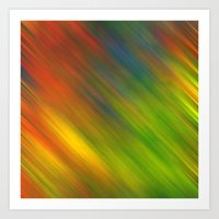 Diagonal Rainbow 3 Art Print