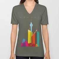 Shapes of Sydney. Accurate to scale Unisex V-Neck