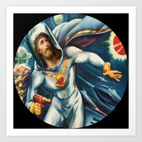 Spaceman Jesus Art Print