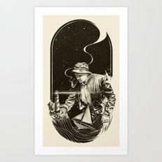 The Lighthouse Keeper Art Print