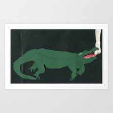 Alligators Under the Bed Art Print