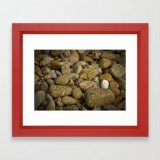 Lonely white pebble Framed Art Print
