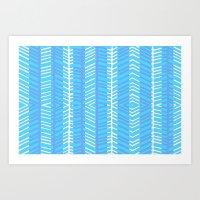 Blue Herring Art Print