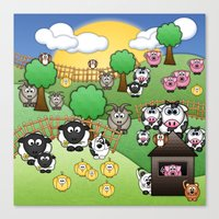 Down On Dingle Dopple Farm Canvas Print