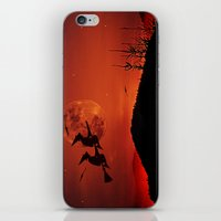 Two witches, one broom iPhone & iPod Skin
