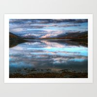 Morning Reflections On Loch Leven Art Print