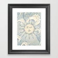 Sun Sitting Amongst The … Framed Art Print