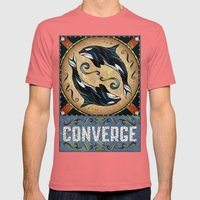 Converge Mens Fitted Tee Pomegranate SMALL