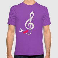 Sweet Song Mens Fitted Tee Ultraviolet SMALL