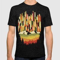 Sunset In Vertical Mens Fitted Tee Tri-Black SMALL