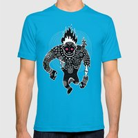 RUN Mens Fitted Tee Teal SMALL
