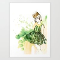 Little Queen Art Print